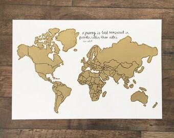 World Scratch Map- 20x30 inches