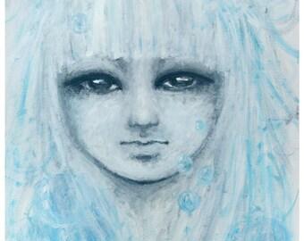 The Girl – print original painting, Keep claim