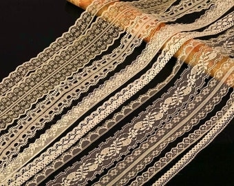 20 metres ASSORTED CREAM Vintage Lace Bridal Wedding Trim Ribbon CRAFT