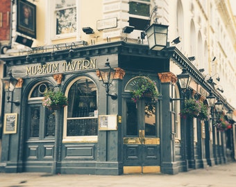 London Print, London Photography, London Pub, British Tavern, Fine Art Print, Travel Photo, Office Decor, Wall Art