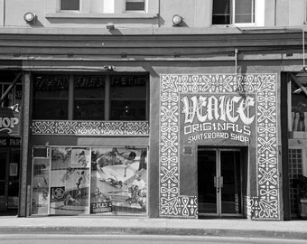Skateboard Shop, Black and White Photography, Venice Beach, California Photo, Fine Art Print, teen boy's room decor, Wall Art