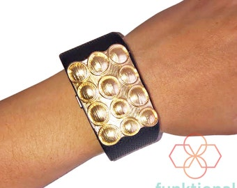 Charm to Accessorize the Fitbit Surge Activity Tracker - The VIVIENNE Gold Charm to Dress Up Your Favorite Fitness Tracker - FREE SHIPPING