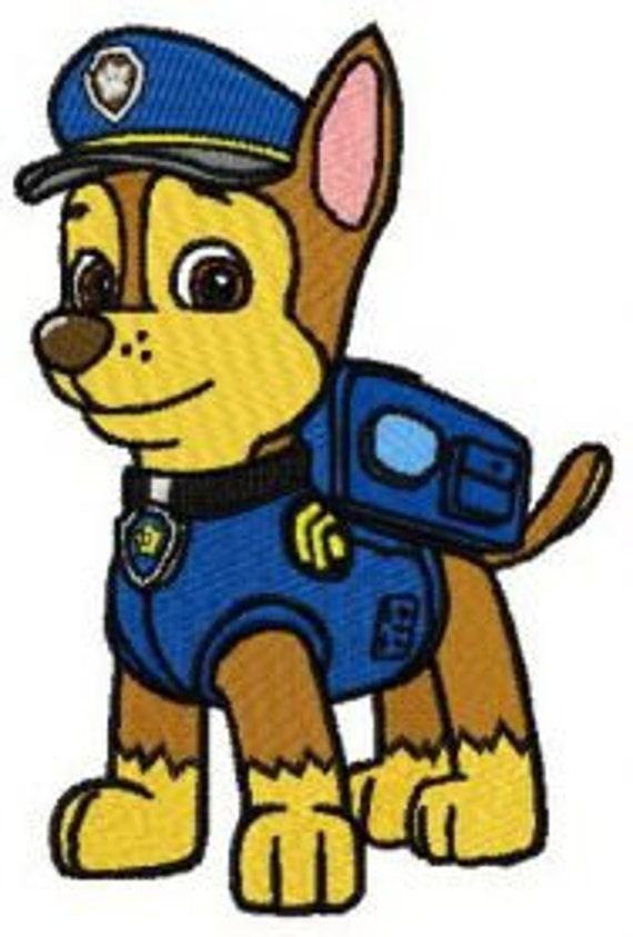 Paw Patrol Chase Embroidery Pattern By AnnsChildrenBoutiuqe