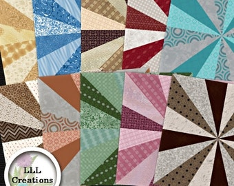Downloadable Files - Nothing will be shipped - LLL Scrap Creations - Twirl-A-Paper Pack - Digital Scrapbooking