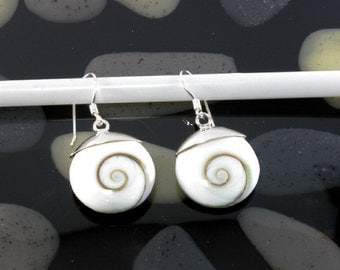 Shivaeye and 925 sterling silver earrings   --- 5003