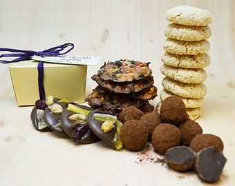 Gift Basket with chocolate truffles