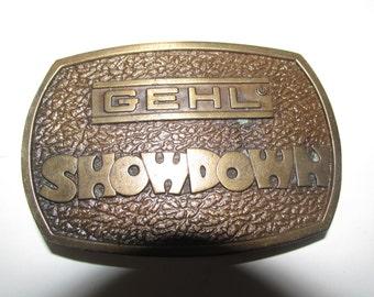 Vintage Gehl Showdown Belt Buckle