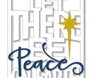 Let There Be Peace On Earth , Layered 3D Card , blank , Free confetti , Christmas , Holiday , family , friends, seasons greetings