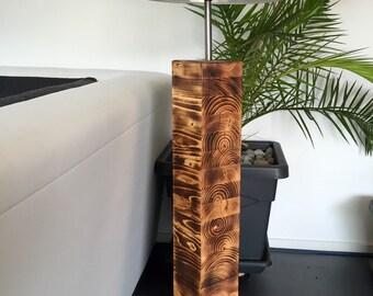 Floor lamp from Schichtverleimtem wood