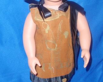 """Reversible Dress #53  Reversible sundress for the 18"""" doll"""