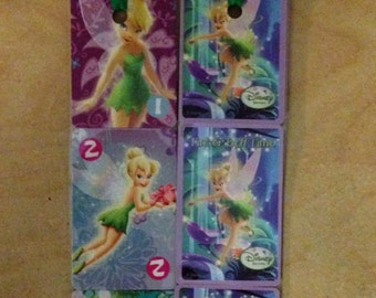 CLEARANCE***Disney Tinkerbell Bookmarks made from upcycled miniature Tinkerbell Time playing cards CLEARANCE***