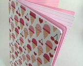 Ice Cream Valentine's Day Travelers Notebook Journal - Available in 5 sizes with optional stickers