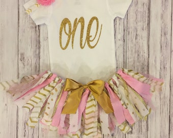 First birthday onesie, first birthday, one, glitter one, gold glitter, first birthday outfit, first birthday tutu,