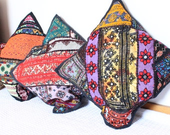 Set Of Three Handmade Embroidered Cushion Covers////Special Sindhi Embroidery Cushion Covers....!!!!