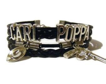 Carl Poppa bracelet, Carl Poppa jewelry, Carl Grimes bracelet, Carl Grimes jewelry, Walking Dead bracelet, Walking Dead jewelry