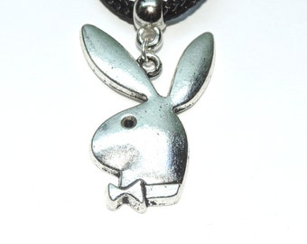 Playboy Bunny Necklace - Tibetan Silver