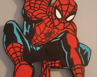 OOAK Marvel Spider-man Wooden Wall Art Cut-out!