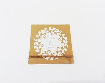 Share themed wedding vintage / country (plain)