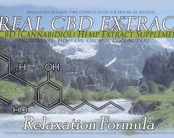 30 Capsules CBD Oil Organically Grown Top Strains 1500MG CBD Relaxation Formula