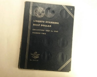 Liberty Standing Half Dollar Collection 1937 To 1947 Number Two Whitman Coin Paper Folder Album