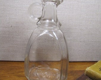 Vintage Glass Cruet - Small Loop Handle