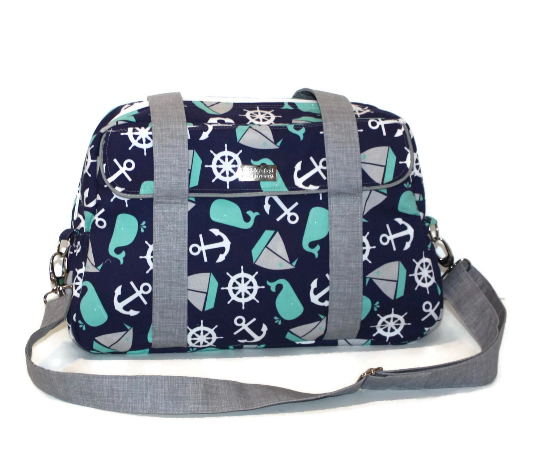 nautical diaper bag whale diaper bag diaper bag for boys. Black Bedroom Furniture Sets. Home Design Ideas