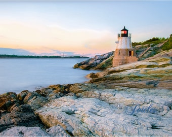 Limited Edition ~ Castle Hill Lighthouse ~ Nautical Decor, Newport, Rhode Island, Fine Art Canvas, New England, Fine Art Photography