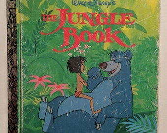 Walt Disney's The Jungle Book Vintage Little Golden Book 1967