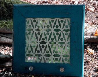 Lace Mirror Glass Art