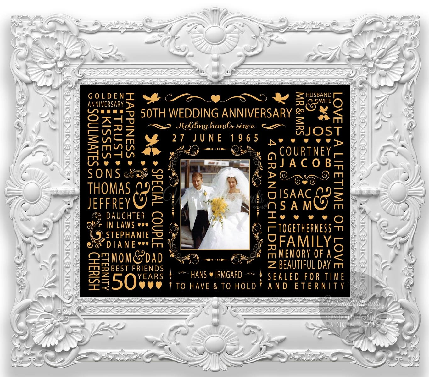 50th Wedding Anniversary Gift for Mom and Dad Parents