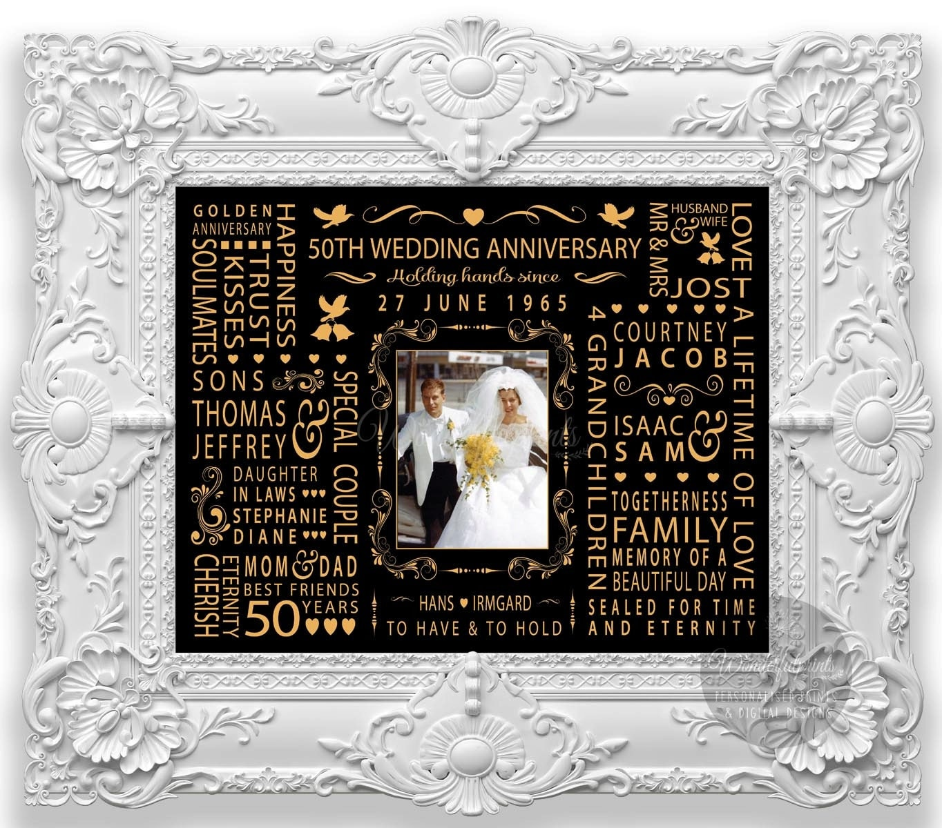 Wedding Anniversary Gift For New Mom : 50th Wedding Anniversary Gift for Mom and Dad Parents