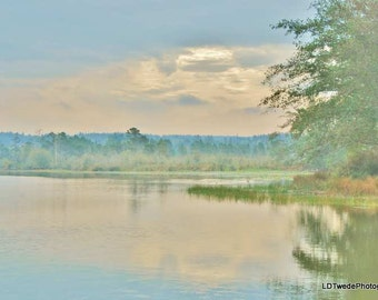 Lake Photography, Scenic Photo, Nature Art, Dreamy Photo, Art and Collectables, Impressionism, Water Photo, Reflection, Landscape, Lake Art