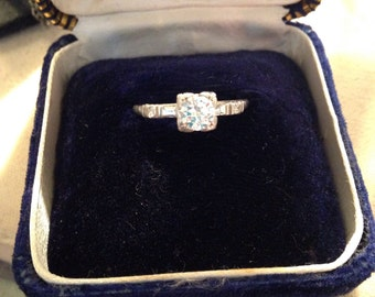 1940's Diamond Engagement Ring