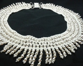 Creamy white wedding necklace