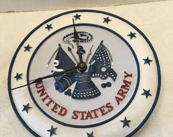 United States Army Clock ~ Military ~ Americana ~ Vintage