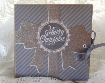Scrapbook Mini Album, Merry Christmas Photo Album, Handmade Scrapbook Mini Album
