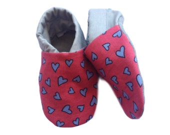 Love Heart Baby Shoes