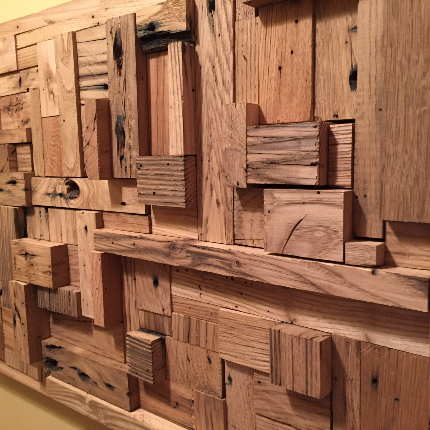 reclaimed wood wall art very unique rustic decor. Black Bedroom Furniture Sets. Home Design Ideas