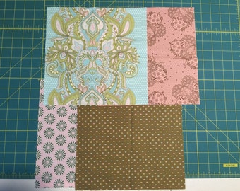 """4 Tula Pink HUSHABYE 10"""" x 10"""" squares cotton fabric hard to find"""