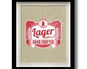 "Lager Craft Beer Label 11x14"" print"