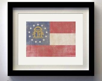 Georgia State Flag Print