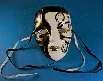 Porcelain Mardi Gras Masks Etsy