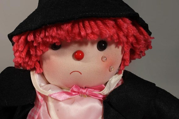 Soft Cloth, Sad Doll, Hobo, Clown, Enesco