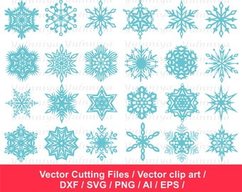 80% Off, Snowflakes SVG Cut Files / Snowflake silhouette / Snowflakes clip art / Snowflake svg  / Snowflake png / svg dxf ai eps png /