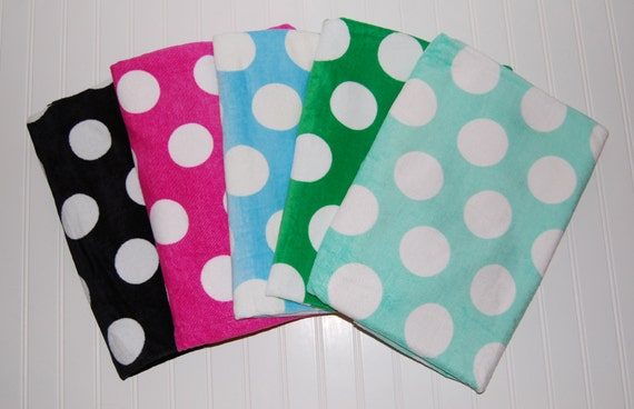 Personalized Beach Towel Polka Dot By MDDesignsBoutique On