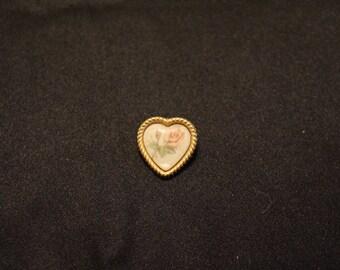 Hearts and Roses Pin
