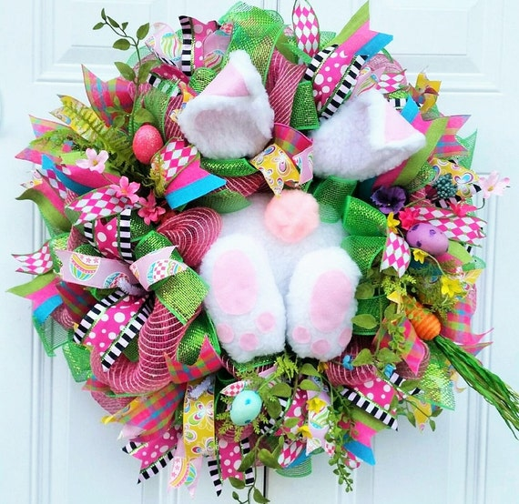 30 Bunny Butt Easter Wreath Large Easter