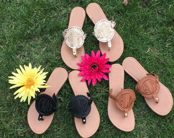 Monogrammed Disc Sandals - 25% off - Use coupon code HOT25 during checkout