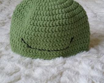Frog-designed baby beanie hat