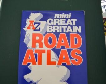 Vintage Mini Great Britain Road Atlas (1992)